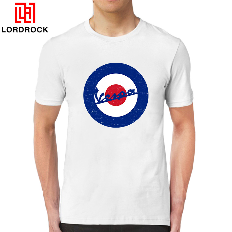Cool Short Sleeves Scooter T Shirt Men Round Neck Summer Tees Fashion Graphic Target Logo Casual T-shirt for Father Boyfriend