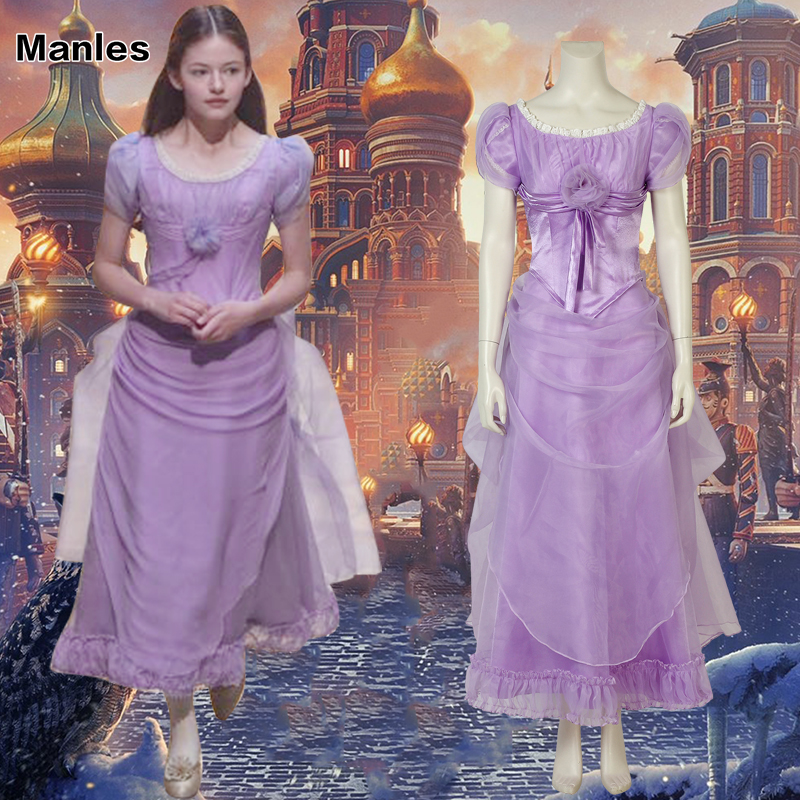 The Nutcracker And The Four Realms Movie Costume Clara Cosplay Fancy Halloween Mackenzie Foy Disguise For Woman Customize Adult