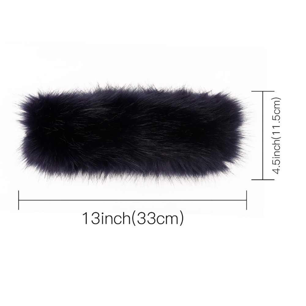 b7a16388aa5 ... Winter Fox Faux Fur Headband For Lady Women Earmuff Wide Hairbands Warmer  Ear Turband Russian Cossack ...