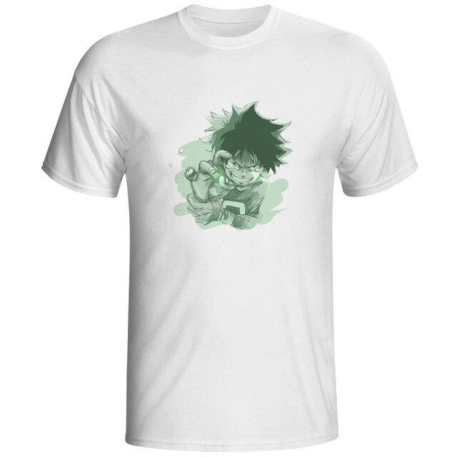 Anime My Hero Akademisi Deku Sketsa T Shirt Batu Keren Mode Pop T