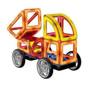 Image 4 - 60 pcs 3D DIY المغناطيسي البناء مجموعة نموذج و بناء لعبة البلاستيك كتل مغناطيسية الألعاب التعليمية للأطفال هدية للأطفال