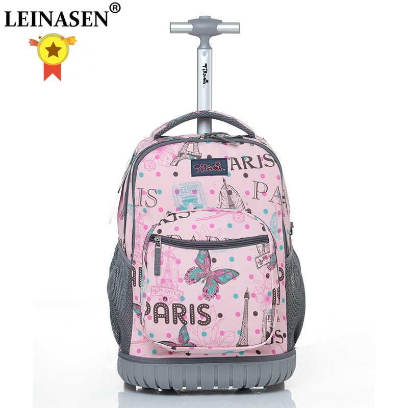 16 18 cal plecak na kółkach plecak szkolny dla dzieci na kółkach wózek plecaki torby dla nastolatków szkolne dla dzieci plecak na kółkach