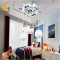 Mediterrâneo Levou modernos lustres de iluminação do quarto do bebê dos desenhos animados Levou crianças de teto 110 V 220 V Led lustre lustre