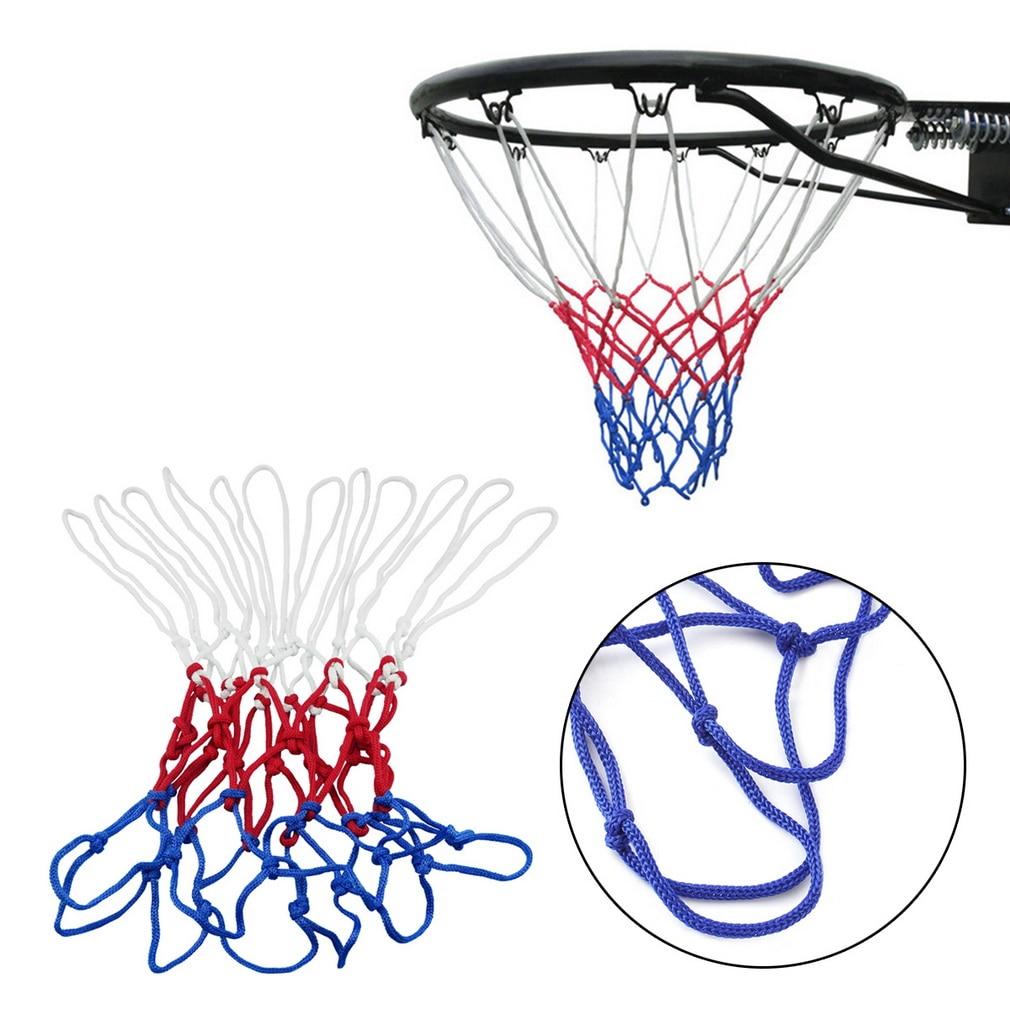 1pc thick 5mm Red White Blue Basketball Net Nylon Hoop Goal Rim Mesh Net Hot Sale