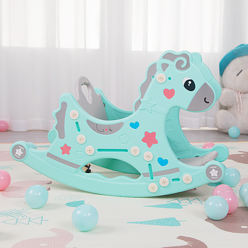 Rocking Horse Two In One Rocking Chair In Children's Room One-year-old Baby Plastic Rocking Horse Toy Belt Music