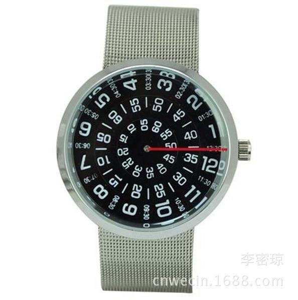где купить Paidu Fashion Unique Brand Black/Silver Quartz Metal Mesh Band Wrist Watch Mens Boy Turntable Dial Digital Gift Wristwatches по лучшей цене