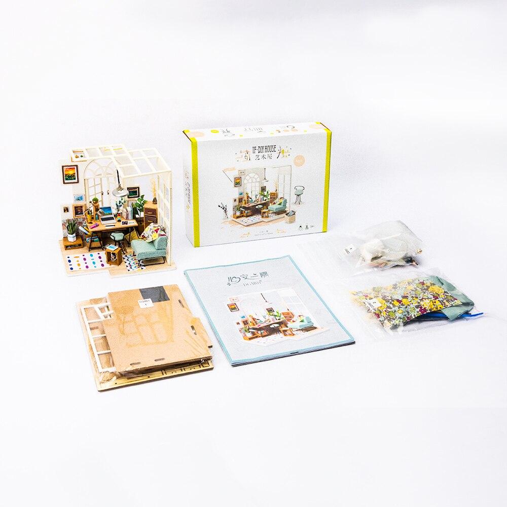 Robotime DIY Glassstation med möbler Barn Vuxen Miniatyr Trä Doll - Dockor och tillbehör - Foto 2