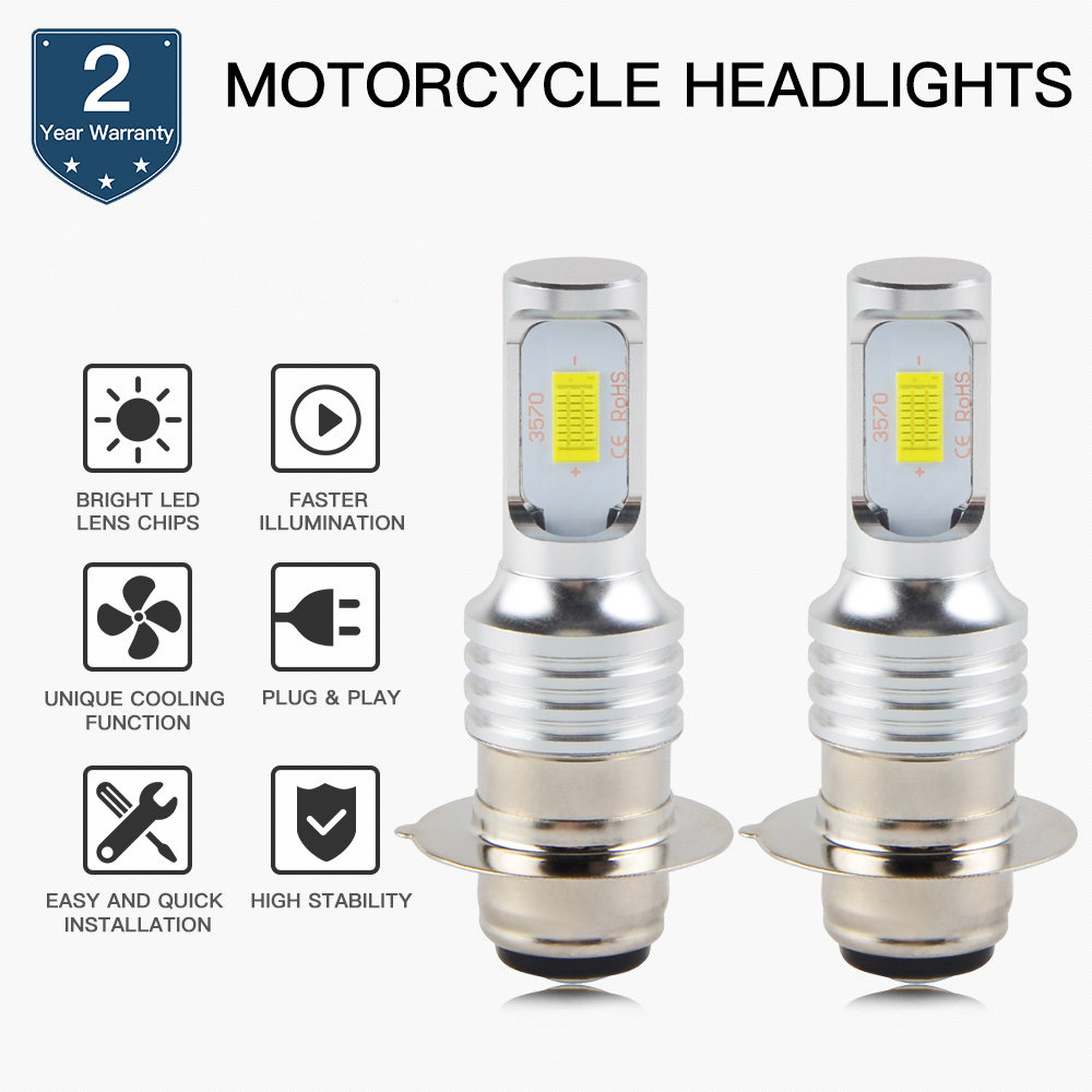 NICECNC 100W LED Headlight Bulbs Lamp For Yamaha Banshee 350 Raptor 125 250 350 660 700 Grizzly 400 450 YFM350 YFM660 600 YFM400 image