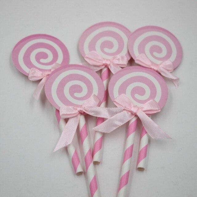 Faux Bonbons Photo Prop Lollipop Party Gâteau Toppers Décoration