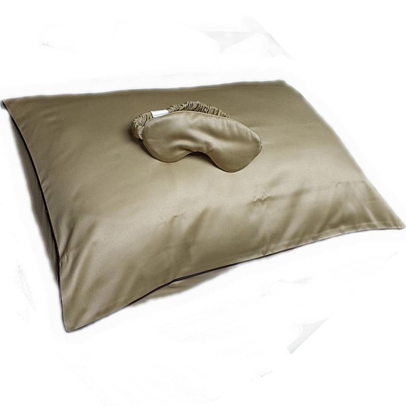 Copper anti aging pillow case cosmetic pillowcasse set