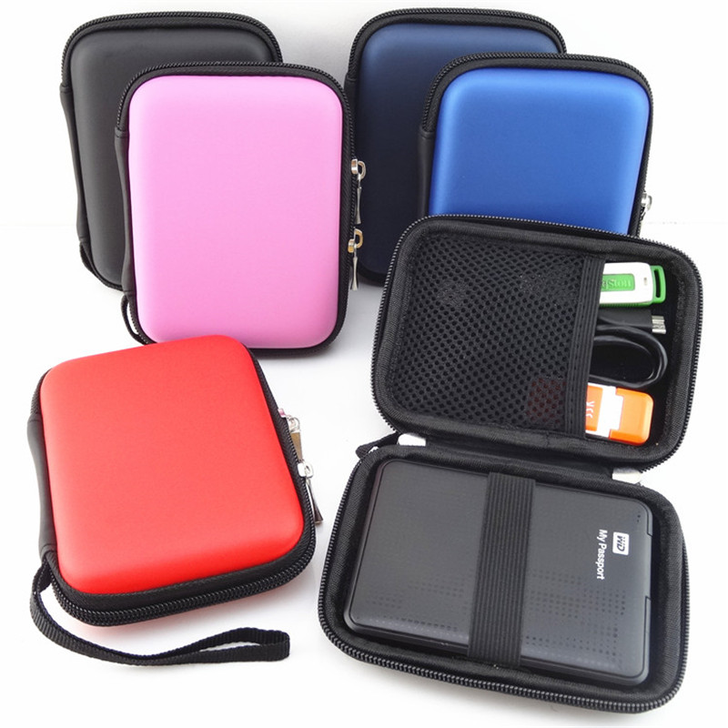 Portable Square Travel Storage Bag Digital Accessories Organizer for 2.5″ HDD Case, U Disk, SD Card, Charger, Mini Gadget Pocket