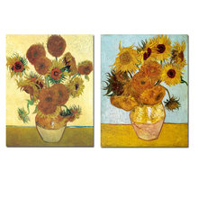 YWDECOR Vincent Van Gogh doré tournesol affiche impression Vase à fleurs peinture à l'huile toile Art moderne mur photo pour salon