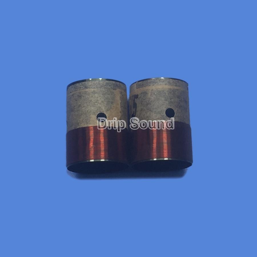 2pcs 25.5mm 25.5 Core 8ohm Bass Voice Coil BASV Black Aluminium Woofer Sound Drive Speaker Repair Parts