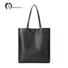 MORESHINE negro Bolso de cuero genuino 2 sets para las mujeres Del Diseñador bolsas de Hombro Femenino bolsa grande de asas Casual Compoiste