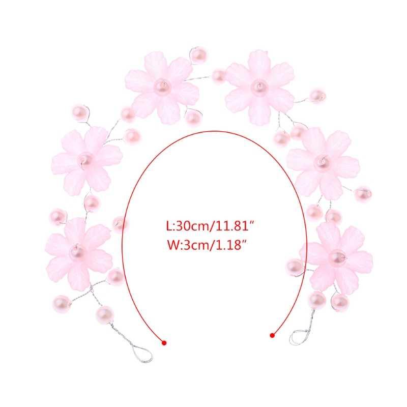 JAVRICK шикарная Свадебная лента для волос ручной работы Цветочная резинка на голову Свадебная Ювелирная тиара изысканные аксессуары для волос
