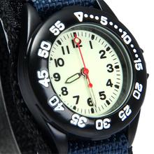 New Super Light Luminous Quartz Kids Sports Watch Canvas Nylon Strap Military Wristwatch For Boy Students Christmas Gifts