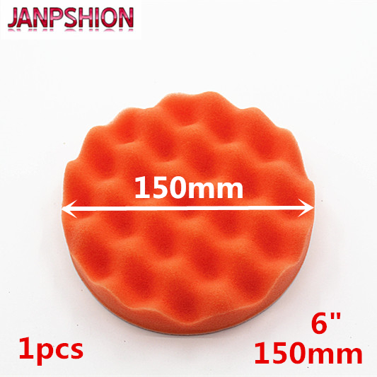 JANPSHION 150mm Wave Sponge Car Polisher Buffer Pads Gross Polishing Buffing Pad 6