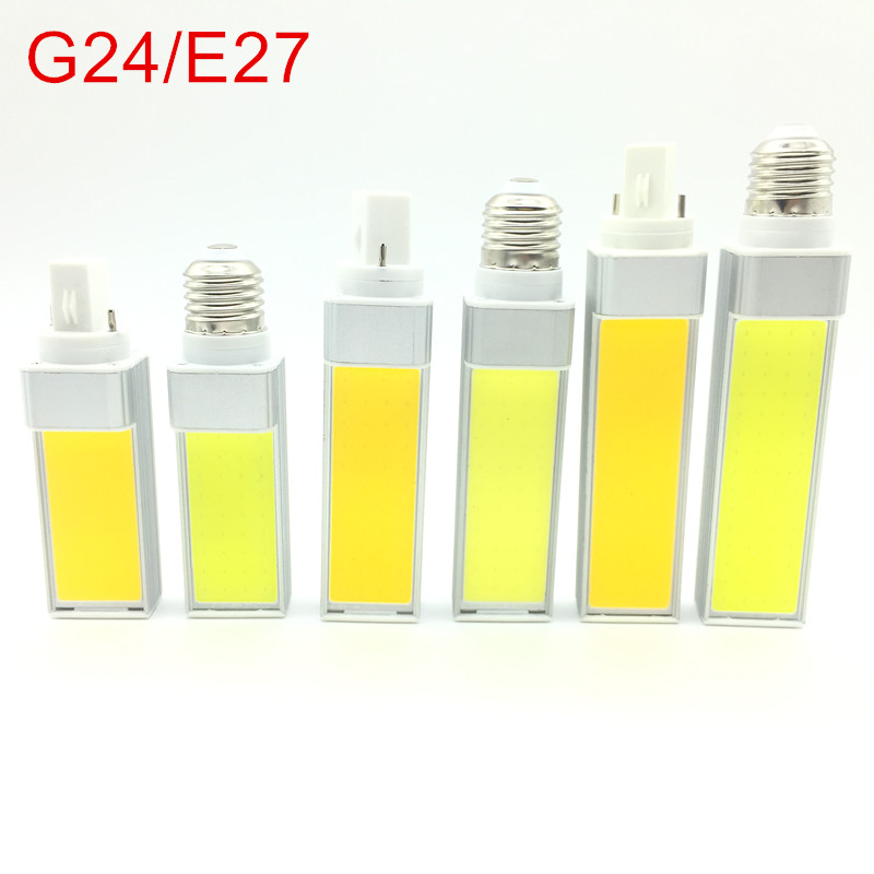 LED Bulbs 10W 12W 15W E27 G24 220V/110V LED Corn Bulb Lamp Light COB Spotlight 180 Degree AC85-265V Horizontal Plug Light цена