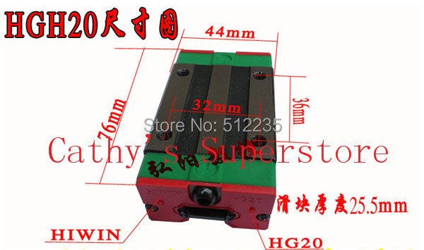 Taiwan high precision HGH20CA HIWIN linear guide bearing HGH20CAZAC hiwin rail block hgh20 slider HGH20CAZAC цены онлайн