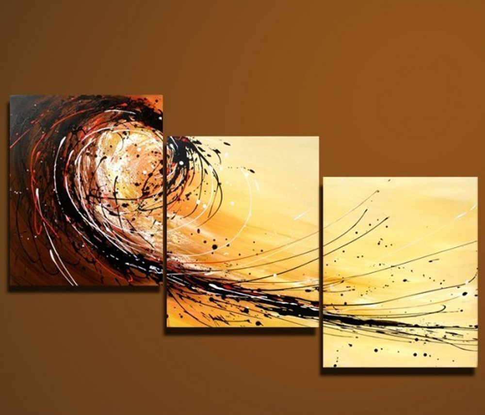 Acrylic 3 piece wall art cheap modern abstract art for for Cheap canvas paintings for sale