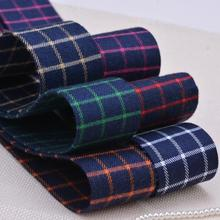 10 Yards Cotton Plaid Cloth Ribbons Handmade Bow Hair Ring Accessories DIY Craft  Apparel Sewing