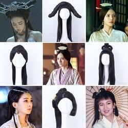 Oude Chinese Zwaard Lady Volledige Lang Haar Pruik Voor Stage Performance Of Cosplay Tv Spelen De Legende Van Dugu Haar pruiken