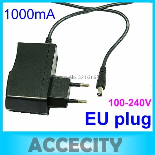 For C18AC100V-240V to DC <font><b>12V</b></font> 1A EU Plug Power Supply Adapter Wall Charger DC 5.5mm x 2.1mm <font><b>1000mA</b></font> Promotion image