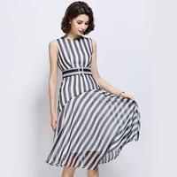 R H New Fashion Striped Plus Size Female Dress Women Dress S M L Xl Luxury