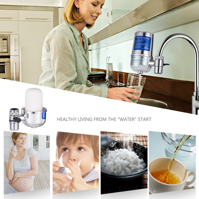 цена на 6L Kitchen Tap Water Filter Purifier Household Faucet Ceramic Filter Contaminant Alkaline Water Filter Prefiltration Accessories