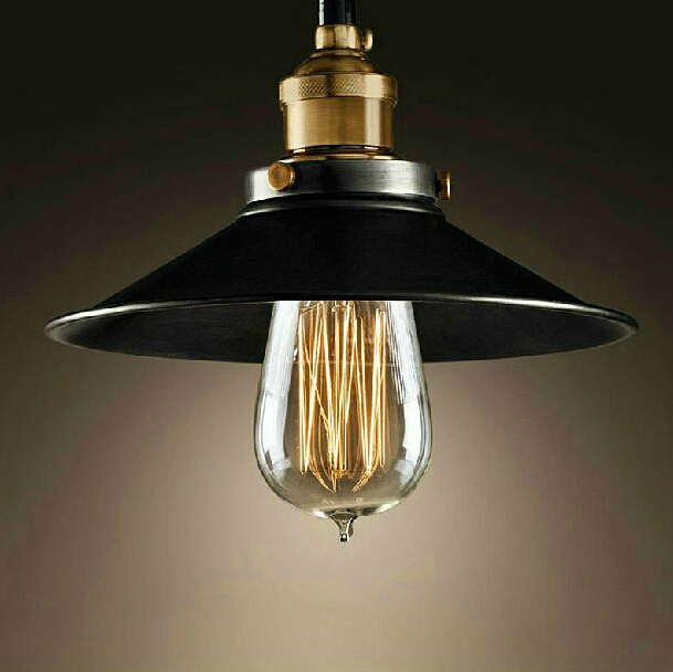 Rh loft vintage copper base edison led bulb iron shade ceiling rh loft vintage copper base edison led bulb iron shade ceiling hanging industrial pendant lamp light lighting e27e26 110v220v in pendant lights from aloadofball Images