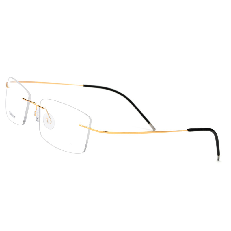 Clever Mongoten Pure Titanium Fashion Unisex Full Rim Ultralight Optical Eyewear Frame Gold Silver Anti-reflective Reading Eyeglasses High Quality And Inexpensive Women's Glasses Apparel Accessories