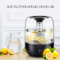 4L Large Capacity Water Purifier Humidifier 220V Ultrasonic Air Humidifier Fruit Flower Water Sprayer Ultrasonic Atomizer Type