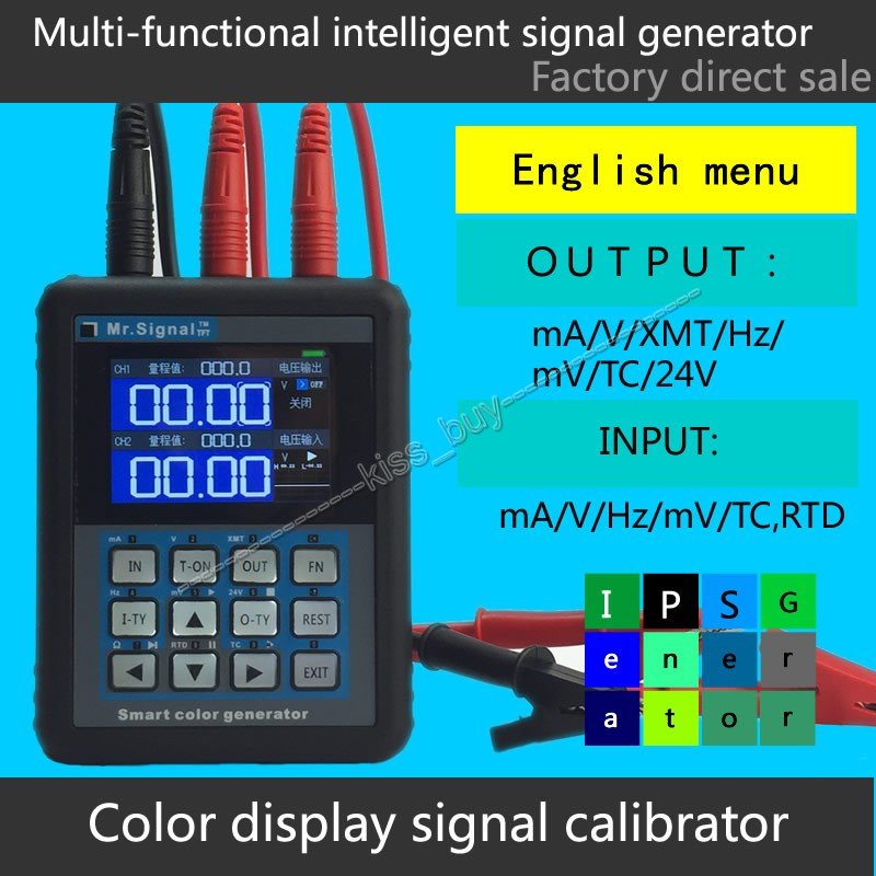 newest multifunction signal generator mr2 0pro 4 20ma smart calibrator for thermocouple resistance urrent and voltage frequency Free tracking color Screen 4-20mA signal source generator Frequency current transducer Digital Calibrator