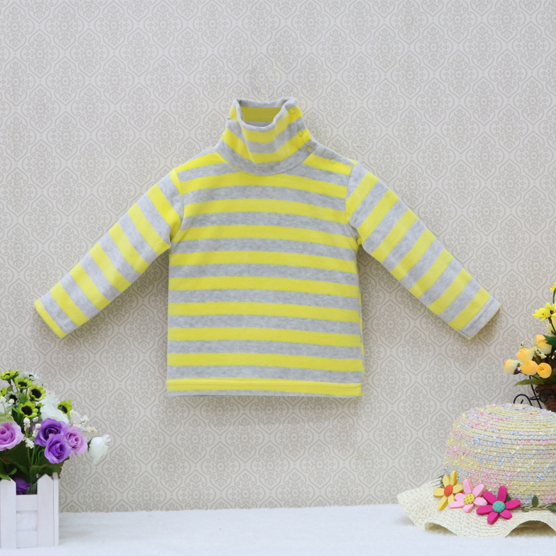 Little-Q-baby-turtle-neck-velour-blouse-5-pcslot-striped-spring-and-autumn-unisex-shirts-kids-long-sleeve-rivets-button-clothes-3