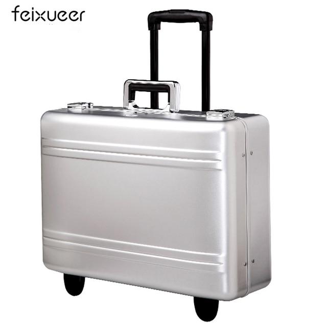 Feixueer Aluminum Magnesium Alloy Air Toolbox Metal Hairdressing Medical Equipment Case Instrument Cases Luxury Suitcase