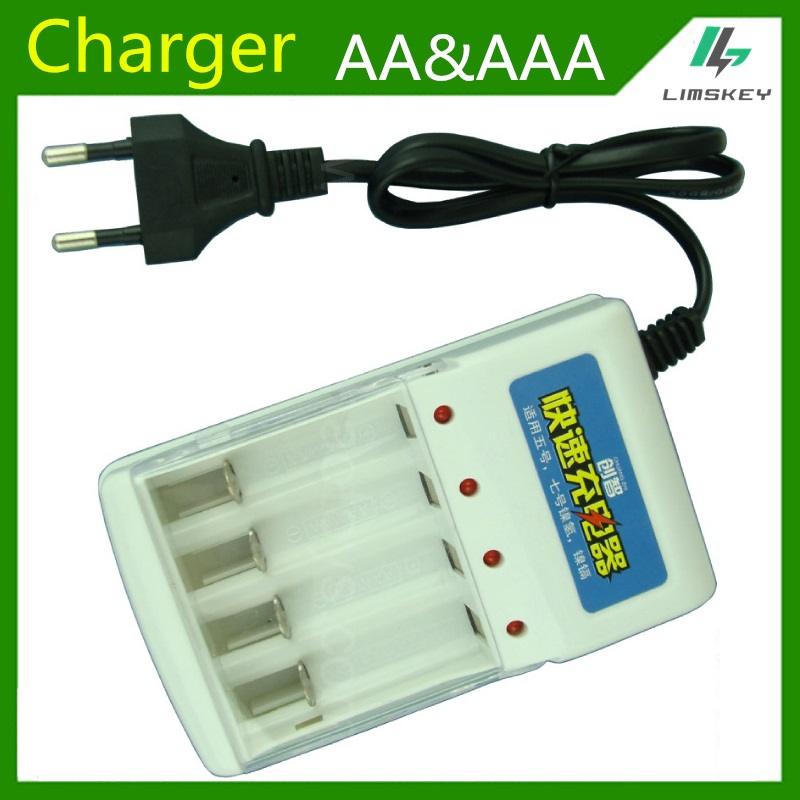1.2v AA AAA Battery Charger Battery four slot AA and AAA NiCd and Ni MH battery Charging Seat 220V 50/60HZ AC Input