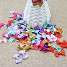 3 cm 20 unids/lote Mini roseta de lazo de seda para el hogar boda cinta pastel Ropa Decoración Scrapbooking DIY manualidades suministros