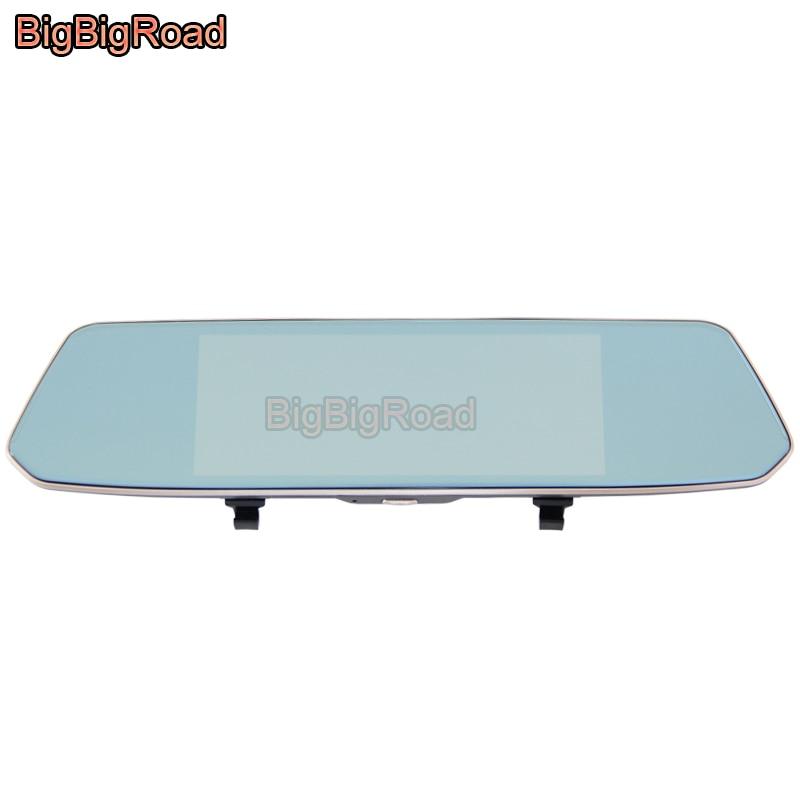 цена на BigBigRoad For seat leon 2 fr ibiza toledo mii arona ateca ibl alhambra altea exeo Car DVR 7 Inch Touch Screen Rear View Mirror