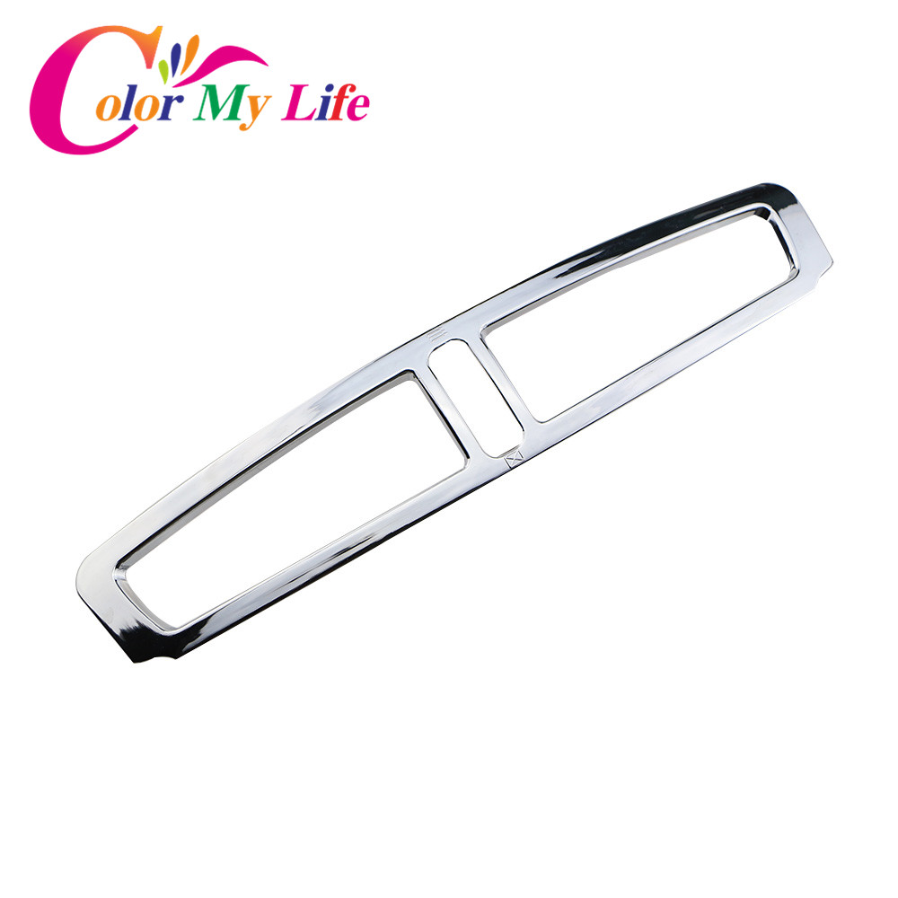 Color My Life Abs Chrome Air Condition Vent Decorative Trim Chrome Sequin Sticker for Ford Kuga 2013 2014 2015 2016 Accessories