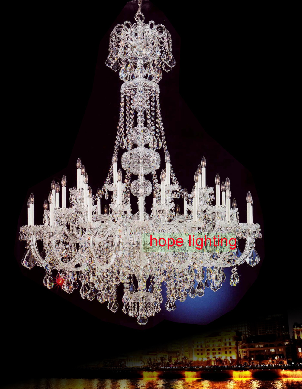 Large Chandelier Crystals Empire Crystal Lighting Bohemian Chandeliers For Hotel Lobby K9 Lamp In From Lights