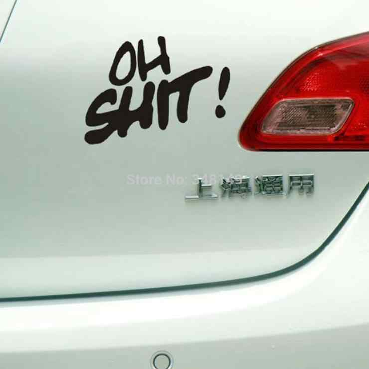 Aliauto voiture-style OH merde! Accessoires drôles d'autocollants et de décalcomanies de voiture pour Chevrolet cruze Volkswagen skoda Polo Golf Hyundai