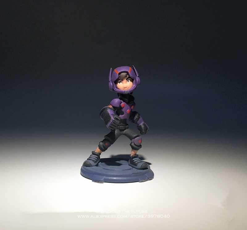 Disney 6 Grande Herói Baymax Hiro Hamada 8.5 cm mini Ação PVC Figura Postura Mini Anime Coleção Estatueta modelo Toy para as crianças