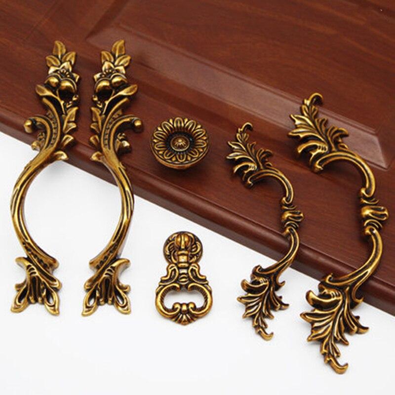 3pcs european vintage wardrobe cupboard door handles cabinet drawer pulls furniture accessory home deocr