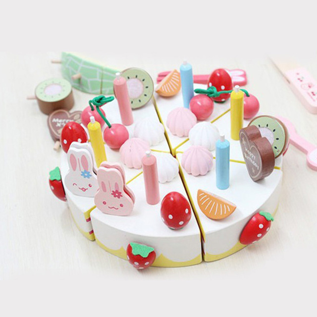 Us 2313 22 Offchildrens Wooden Cakes Ice Creams Set Pretend Play Food Play Set Tea Set Party Toy In Gags Practical Jokes From Toys Hobbies On