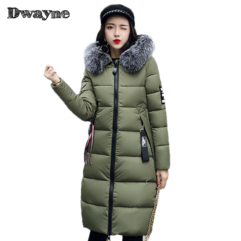 2017New Long Parkas Female Womens Winter Jacket Coat Thick Cotton Warm Jacket Womens Outwear Parkas Plus Size Fur Fur collar new long parkas female womens winter jacket coat thick cotton warm hooded jacket womens outwear parkas plus size coats qh0604