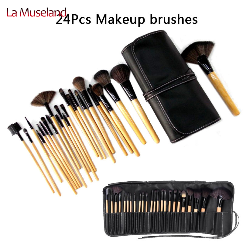 2014 HOT !! Professional 24 pcs Makeup Brush Set tools Make-up Toiletry Kit Wool Brand Make Up Brush Set  #1424