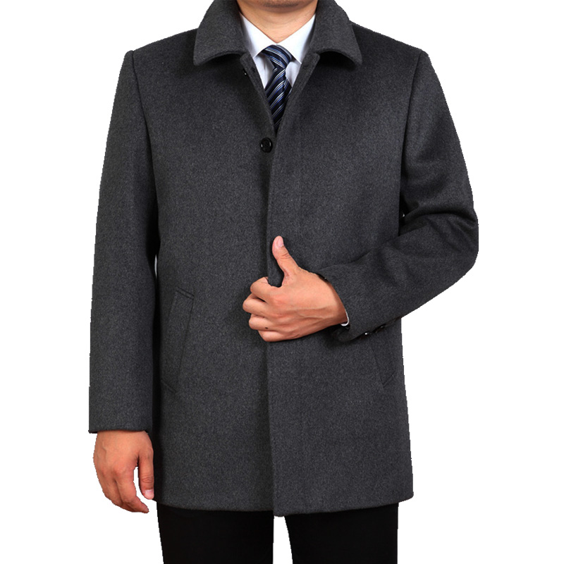 2019 Autumn Winter mens jackets and coats male outerwear plus size thick smart casual Fashion loose woolen coat for men AVBXCV 2