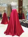 MYEDRESSHOUSE Couture 2 Piece Set Occasion Dress Full Beading Bolero With Red Satin A-line Skirt Celebrity Dress 17MYED018