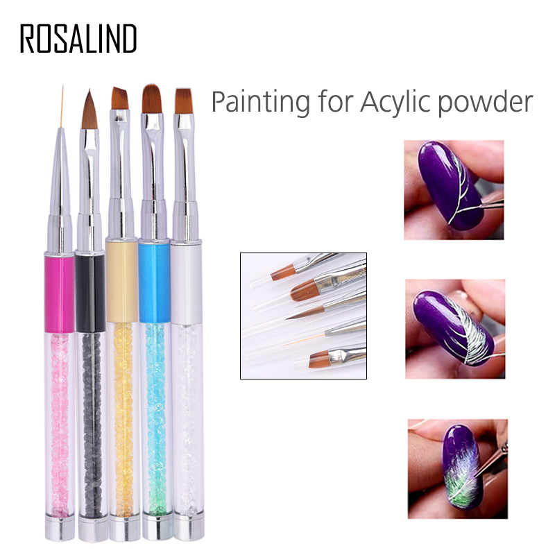 ROSALIND nail art Nail Brush Gel varnish Painting Drawing Lines Pen design nail brushes for manicure