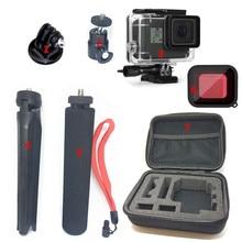 Suptig Accessories Small Bag set for Gopro Hero 7 Black Hero6 5 Hero2018 Monopod Tripod with Waterproof Housing Case